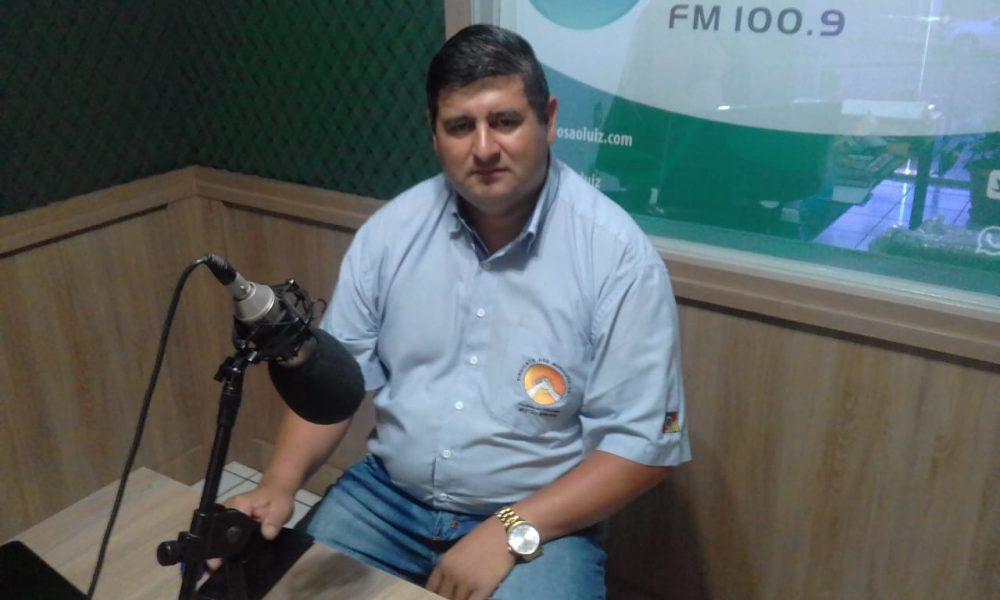 O presidente do Sindicato, Nilson de Chaves