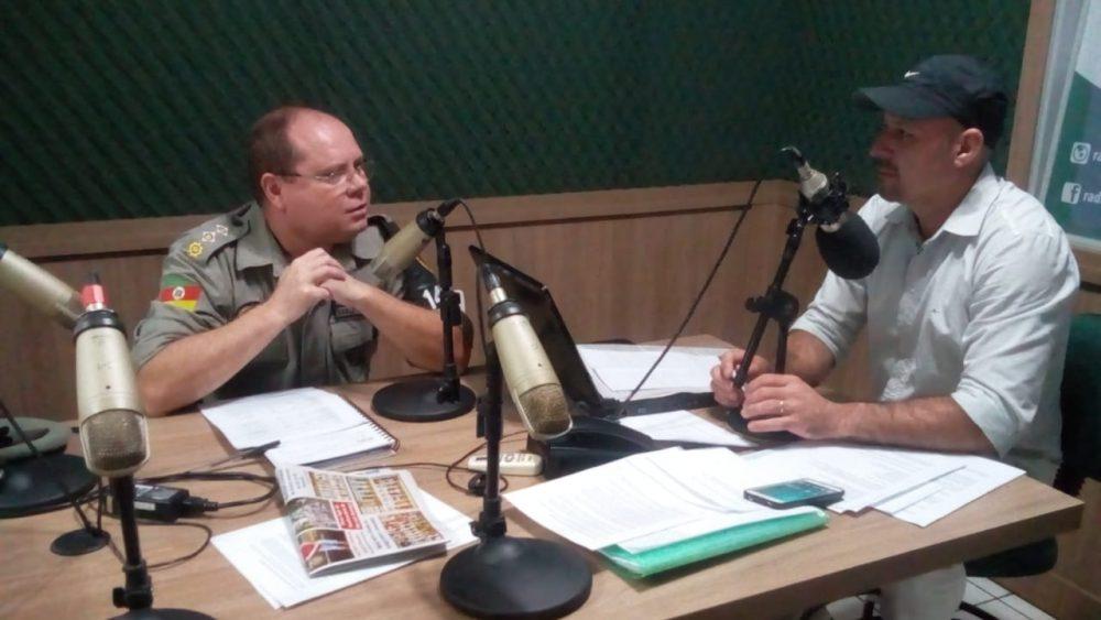 O comandante do 14º BPM em entrevista a Jilvan Santos