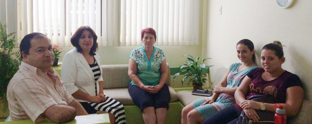 Reitora Arisa (segunda à esquerda) participou da reunião. Foto: divulgação Uergs SLG