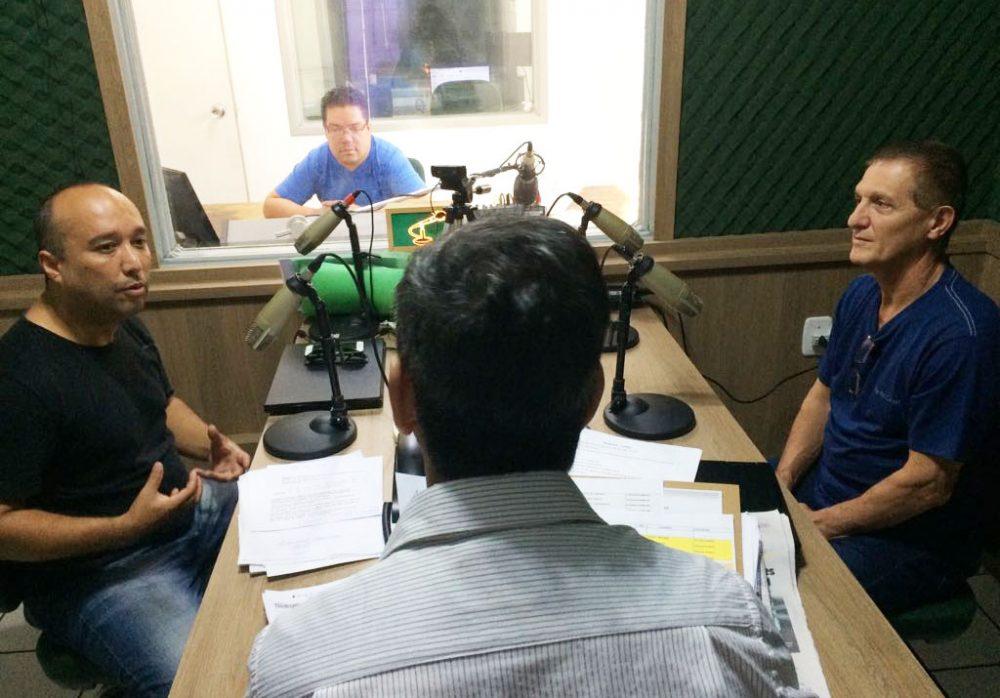 Adilson e Milton divulgaram a nova escola em nossa programação. Foto: Genaro Caetano/Rádio São Luiz
