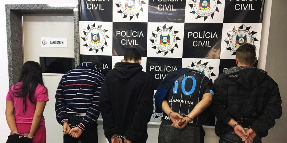 Prisões ocorreram em diferentes locais. Fotos: divulgação Polícia Civil de Santo Ângelo
