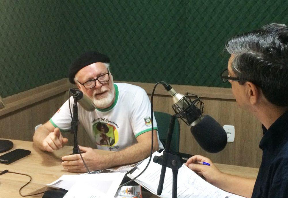 Gilberto convidou a comunidade para comparecer no evento. Foto: Genaro Caetano/Rádio São Luiz