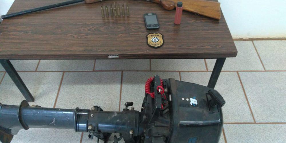 Material apreendido durante a operação. Foto: divulgação/PC