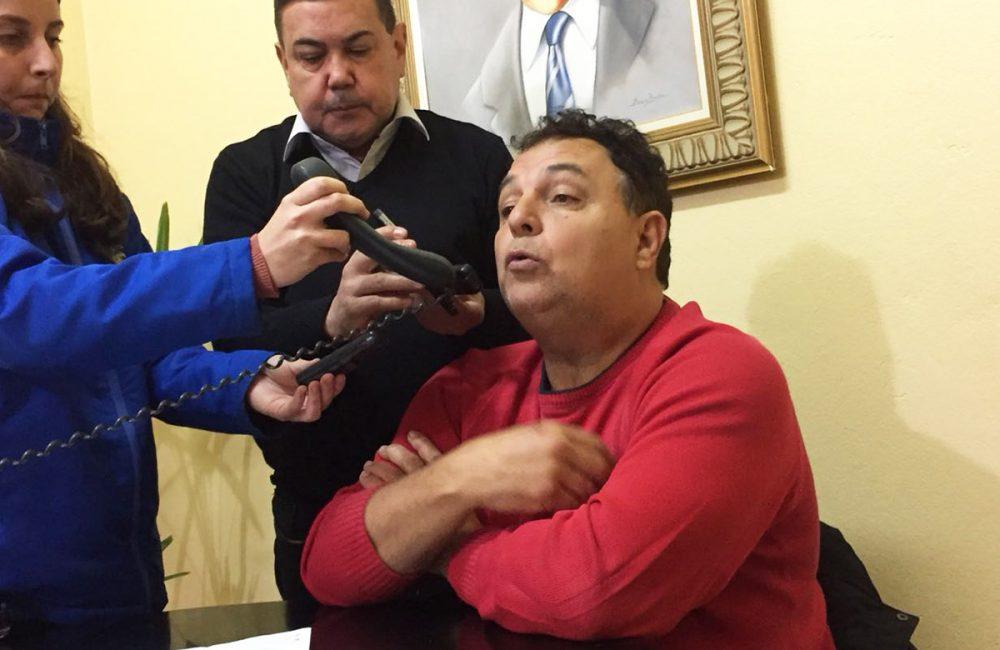 Vereador concedeu coletiva na manhã desta segunda-feira. Foto: Genaro Caetano/Rádio São Luiz