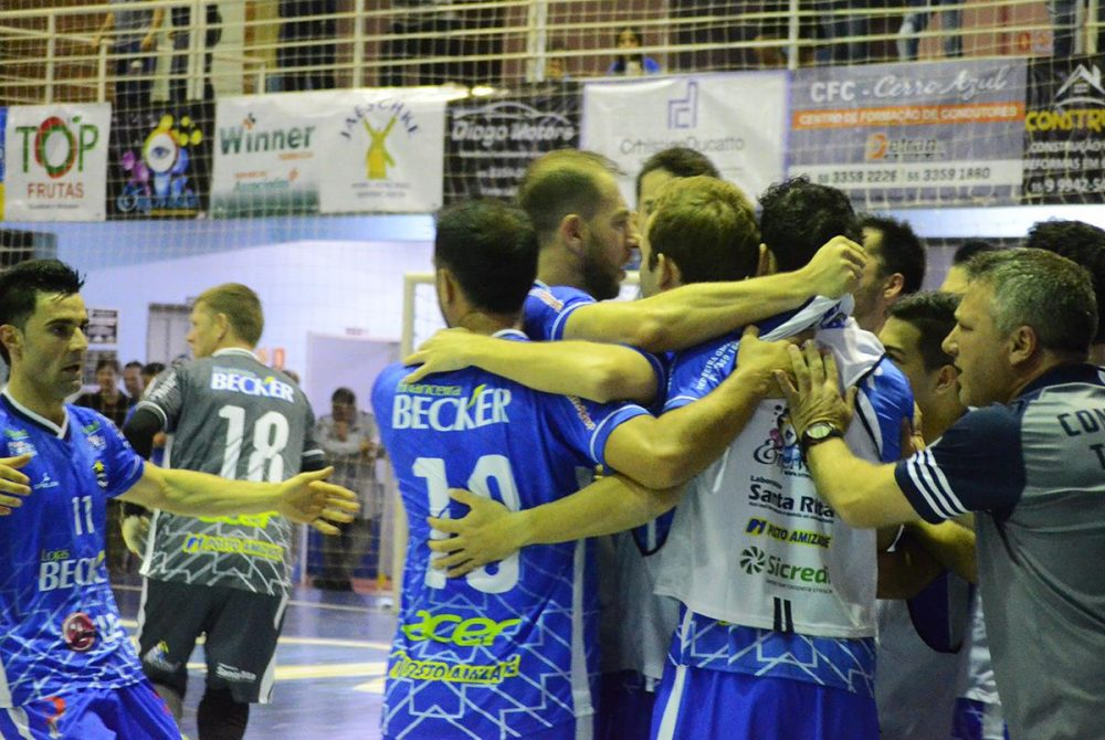 Cerro Largo venceu em casa por 2x1. Foto: Assessoria Cerro Largo Futsal/Lojas Becker