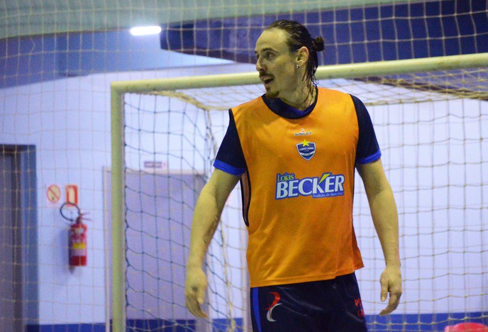 Rafa treina com o time desde o mês de junho. Foto: Assessoria Cerro Largo Futsal/Lojas Becker