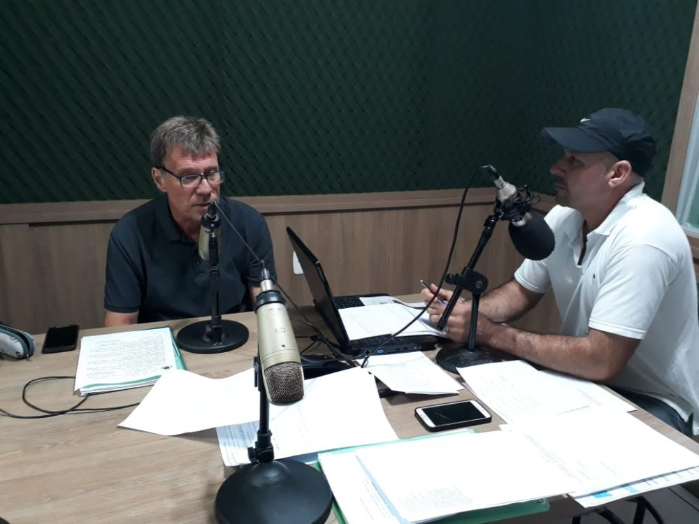 O presidente da Câmara, PIti Werle, em entrevista a Jilvan Santos